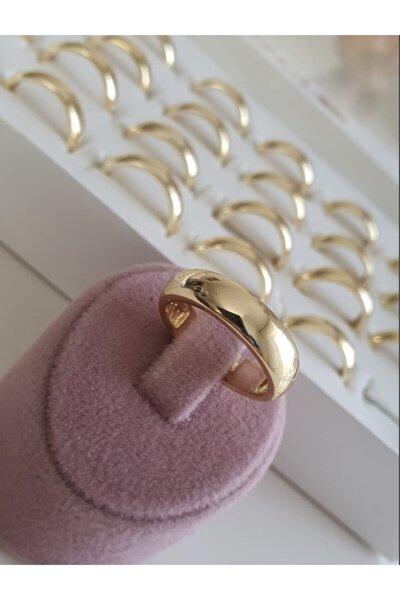 Klasik Düz Ayarlanabilir Gold Renk Alyans Yüzük