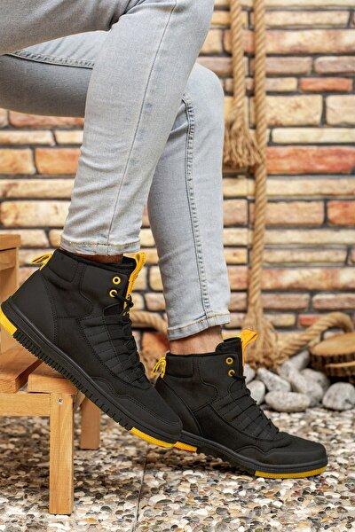 Siyah Sarı Erkek Sneaker Bot 00122262