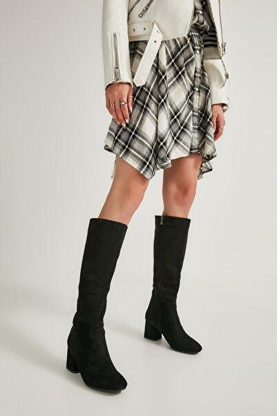 Siyah Süet Kadın Çizme M0842081565