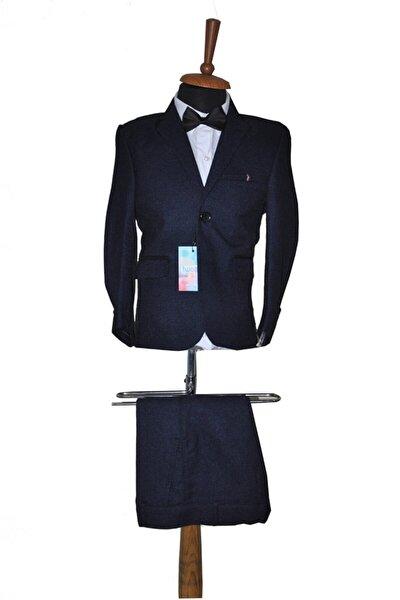3-7 Yaş Çocuk Lacivert Takım Elbise