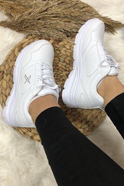 Kadın Günlük Spor Beyaz Kadın Yürüyüş Ayakkabısı Suomy