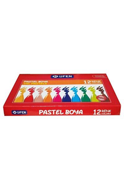 Köşeli Yağlı 12 Renk Lüks Pastel Boya
