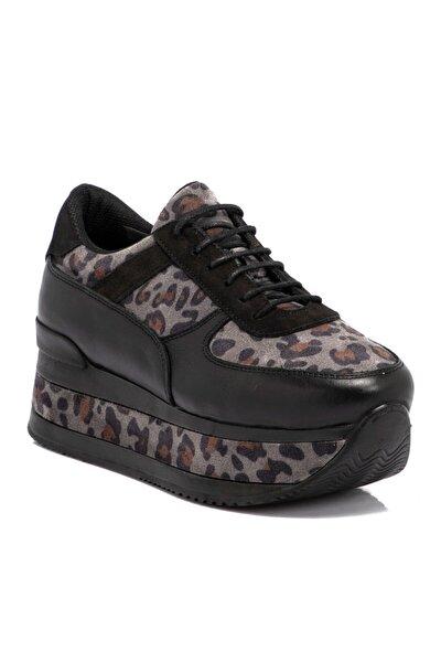 Siyah Süet Deri Kadın Ayakkabı 65261o9a