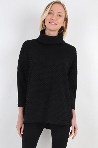 Balıkçı Yaka Bluz, Siyah (B20-5005)
