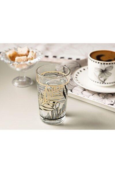 Maylin Cam 6'lı Kahve Yanı Su Bardağı 100 Ml Siyah