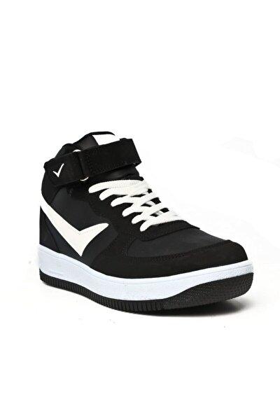Unisex Boğazlı Cırtlı Kaymaz Taban Ayakkabı