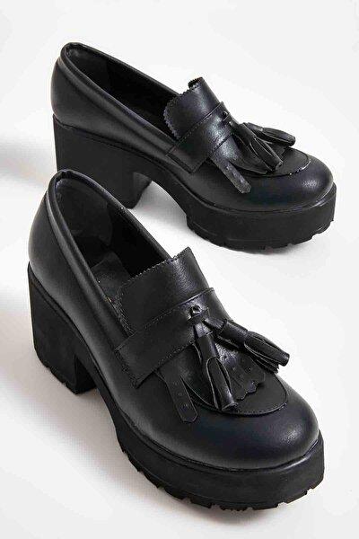 Siyah Kadın Loafer Ayakkabı M05340700