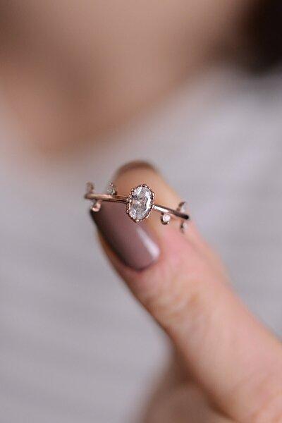 Iskandinavya Evlilik Yüzüğü Ayarlanabilir Kadın 14 K Altın Kaplama Yüzük