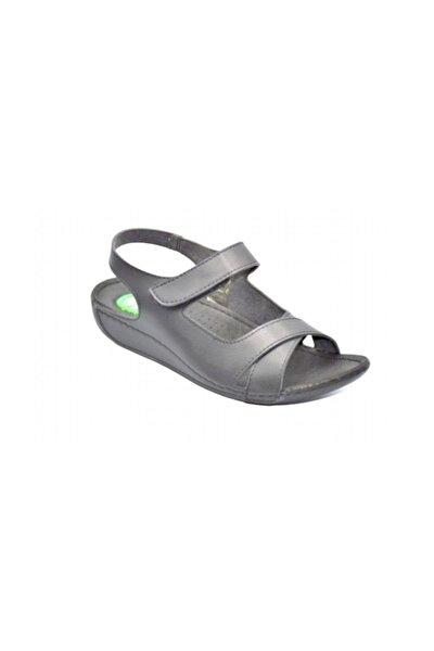 24218 Kadın Siyah Jelli Günlük Sandalet.