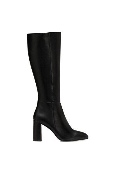 MARIMBU Siyah Kadın Ökçeli Çizme 100582015