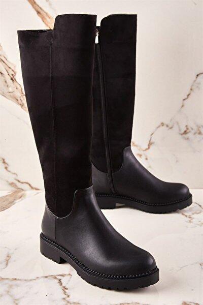 Siyah Süet Kadın Çizme K0586000209