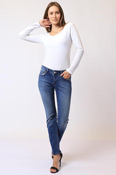 Kadın Slim Fit Düşük Bel Pantolon Suzy 9001-23 (T) 23