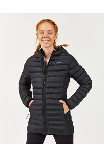 Outerwear W Long Padded Jacket Kadın Siyah Mont