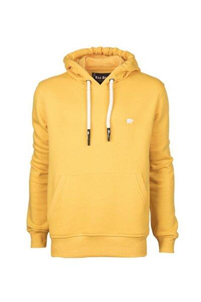 Erkek Sweatshirt Hardal Sımple Hoodıe 20.02.12.019