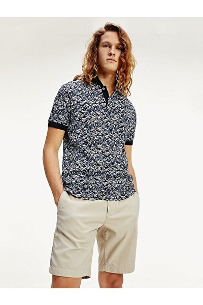 Erkek Th Leaf Print Regular Polo T-shirt