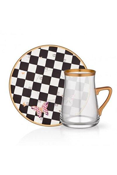 Tarabya Emma 6lı Kulplu Çay Seti