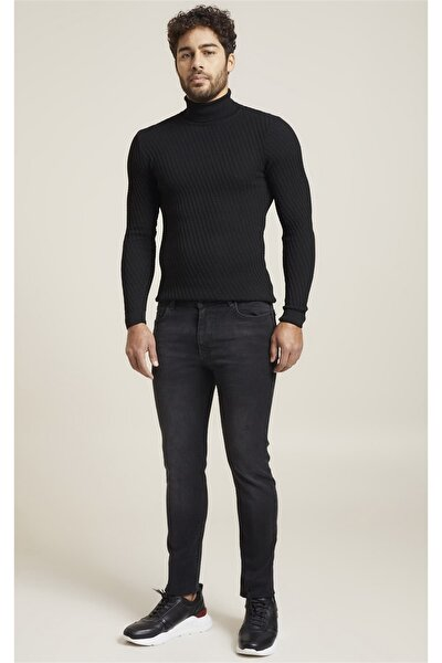 071 Slim Fit Siyah Jean Pantolon