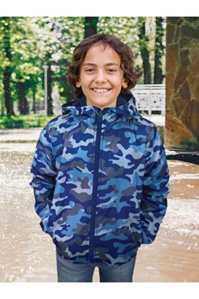 Erkek Çocuk Kamuflaj Desenli Yağmurluk