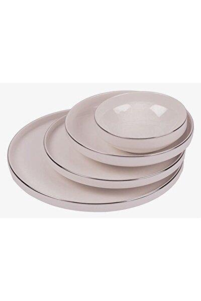 Gümüş Modern 24 Parça Yemek Takımı (6 Kişilik)