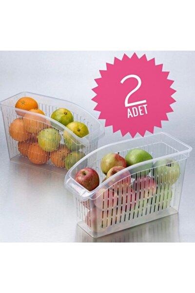 Buzdolabı Sepeti 2adet Dolap Içi Düzenleyici Meyve Sebze Buzdolabı Düzenleyici Raf Sepeti Sebzelik