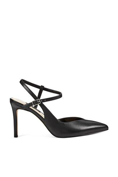 ELISA Siyah Kadın Hakiki Deri Topuklu Ayakkabı 100578631