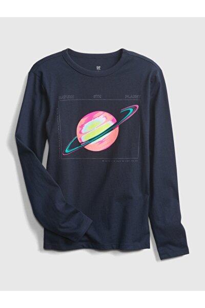 Erkek Çocuk Uzun Kollu Grafik T-Shirt