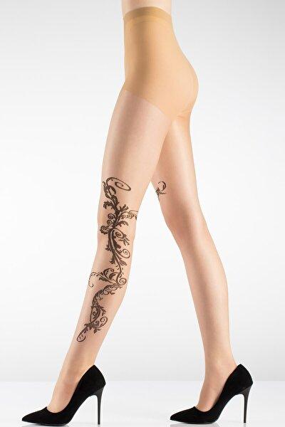 Bayan Külotlu Çorap Kleopatra Desenli 10 Den 2184