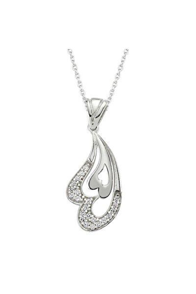 Gümüş Kalpli Bayan Kolye