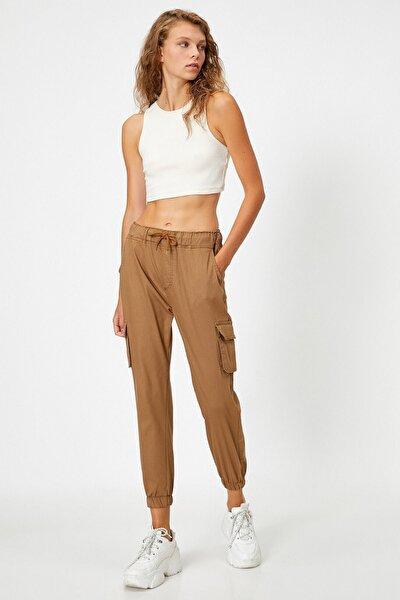 Kadın Yan Cepli Taba Pantolon 1kal41200mw