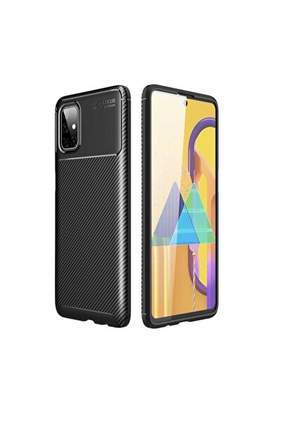 Samsung Galaxy M51 Kılıf Negro Karbon Tasarımlı Silikon Kapak