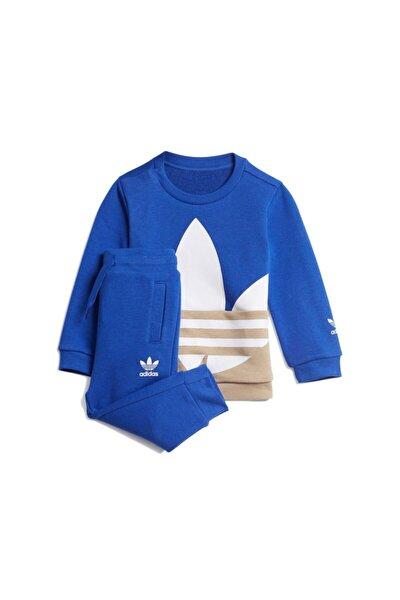 Mavi Çocuk Eşofman Takımı Ge1969 Big Trefoilcrew