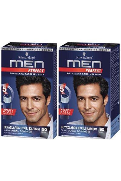 Perfect Men 90 Siyah Saç Boyasıx 2 Adet