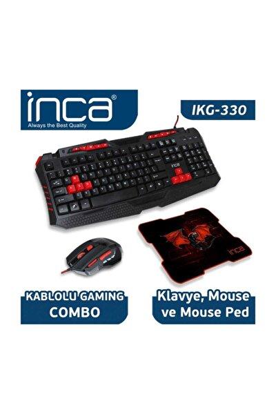 Ikg-330 Gamıng Oyuncu Klavye+mouse+mouse Pad Seti