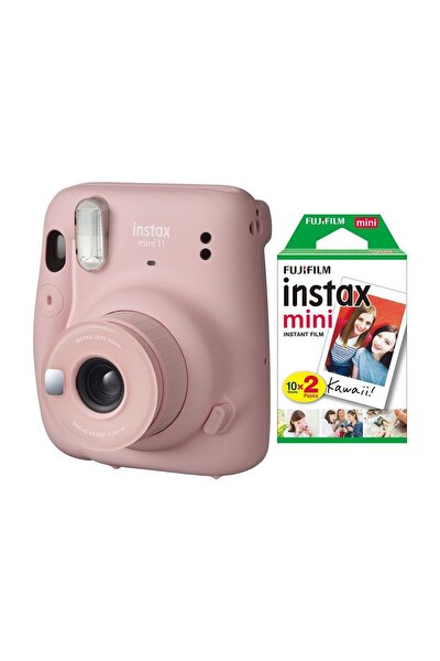 Instax Mini 11 Pembe Fotoğraf Makinesi 20li Film