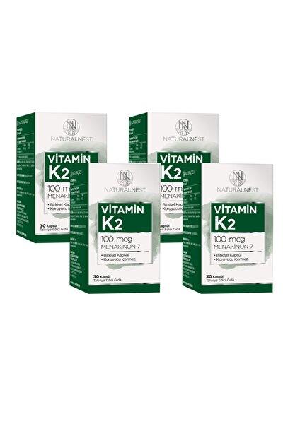 Naturalnest Vitamin K2 Menaquinone 7 Içeren Takviye Edici Gıda 30 Kapsül 4 Kutu