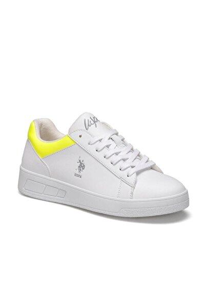 Beyaz Neon Sarı Kadın Sneaker Starky