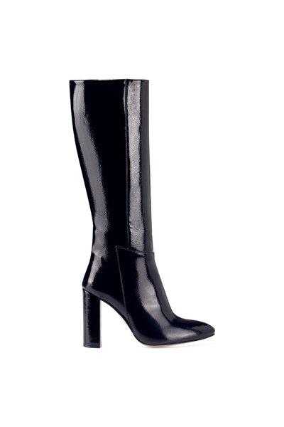 MIMA Lacivert Kadın Ökçeli Çizme 100582032