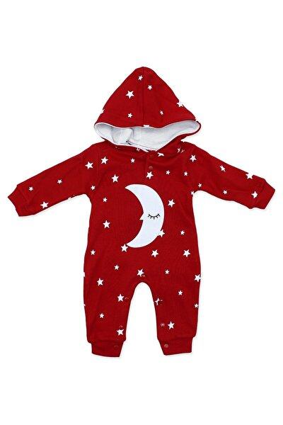 Uykucu Aydedeli Yıldızlı Kırmızı Bebek Tulumu K779