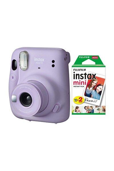 Instax Mini 11 Lila Fotoğraf Makinesi 20li Film