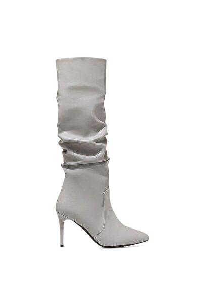 PINTO Gri Kadın Ökçeli Çizme 100582071