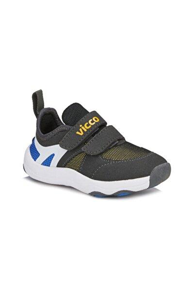 Çocuk Siyah Günlük Cırtlı Spor Ayakkabı