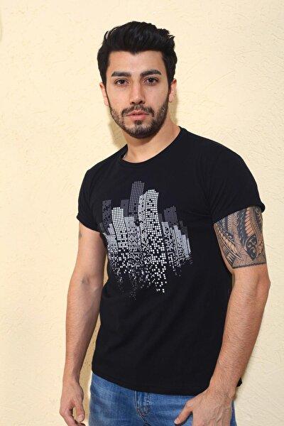 Cool City Zatan Extra Slim Fit Likralı Bisiklet Yaka Erkek Tshirt