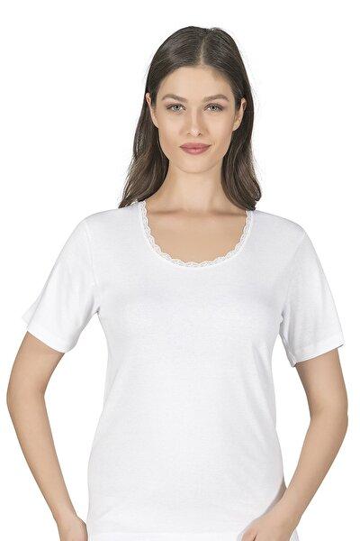 Kadın Beyaz Ribana Fanila 0385