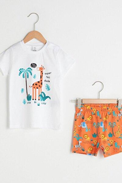 Erkek Bebek Optik Beyaz E5X Pijama Takımı