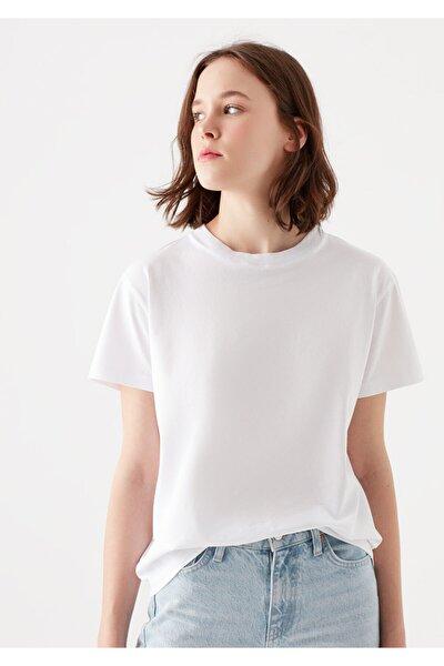 Beyaz Basic Tişört 1600955-620