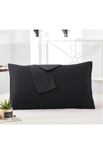 %100 Pamuklu Lüx Siyah Yastık Seti