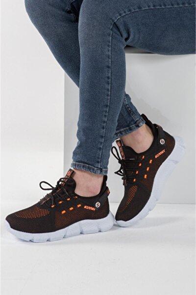 250 Siyah Oranj Hava Akışlı Erkek Spor Ayakkabı