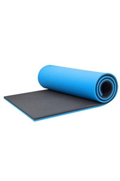 16 Mm Çift Taraflı Mavi - Siyah Pilates Matı - Pilates Minderi 180 Cm X 60 Cm X 1,6 Cm