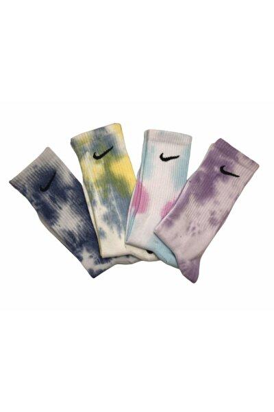 4'lü Renkli Kaliteli Atletik Çorap Seti