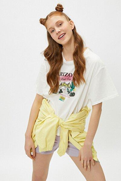 Kadın Ekru T-Shirt